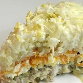 Рецепт салата Мельник (охотничий салат)