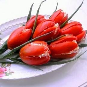 Тюльпаны с помидоров