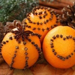 Декор Новогоднего стола апельсинами