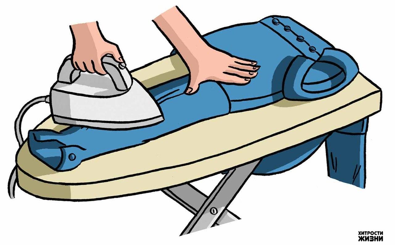 Как погладить брюки видео 3