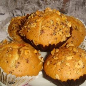 Ореховые кексы с яблочно-дынным вареньем