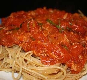 Томатный соус с тунцом для спагетти
