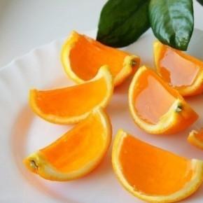 Как сделать апельсиновые дольки с желе