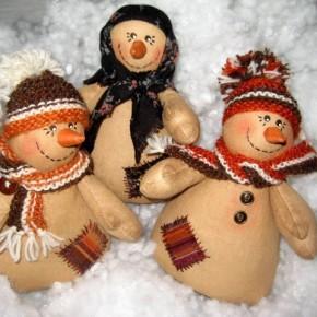 Кофейно-коричный снеговик на Новый год своими руками. Мастер-класс.