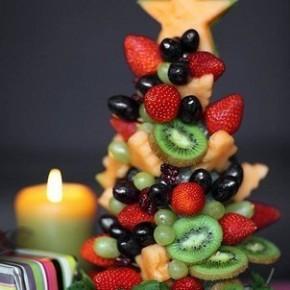 Идеи для фруктовых елочек