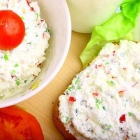 Творожно-овощной салат