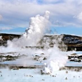 Геотермальный источник в Исландии - Голубая лагуна