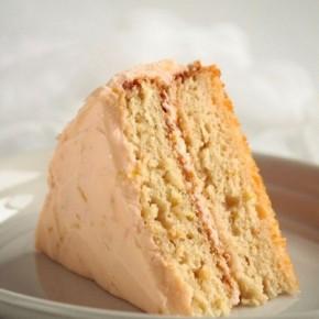 Грейпфрутовый торт из йогурта в глазури из грейпфрута