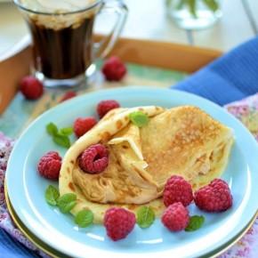 Кофейные блины «Капучино» с кремом маскарпоне